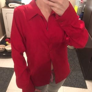 NYCo Red button up collar shirt soft material